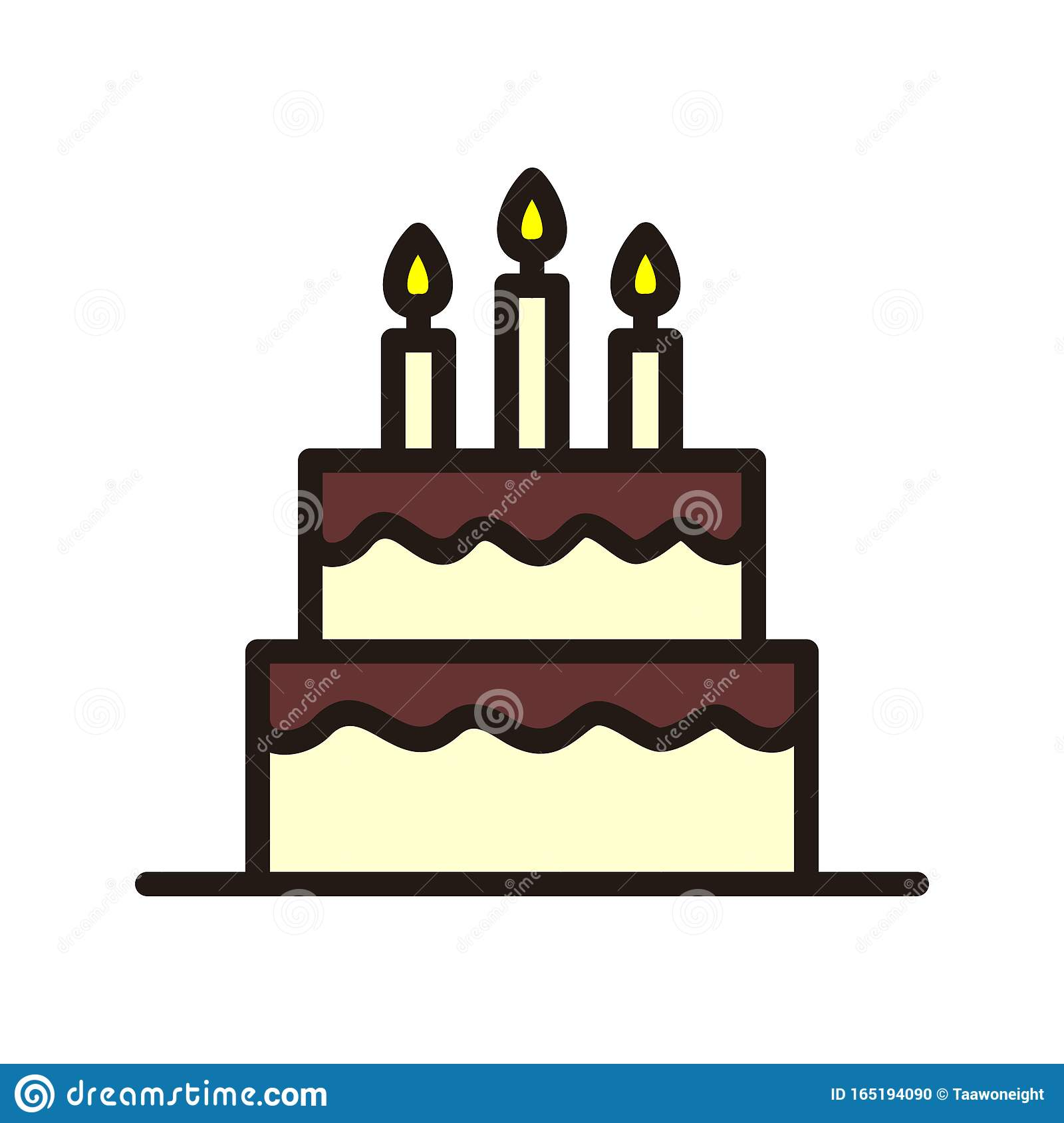 Excellent Birthday Cake Icon Isolated On White Background From Event Funny Birthday Cards Online Kookostrdamsfinfo