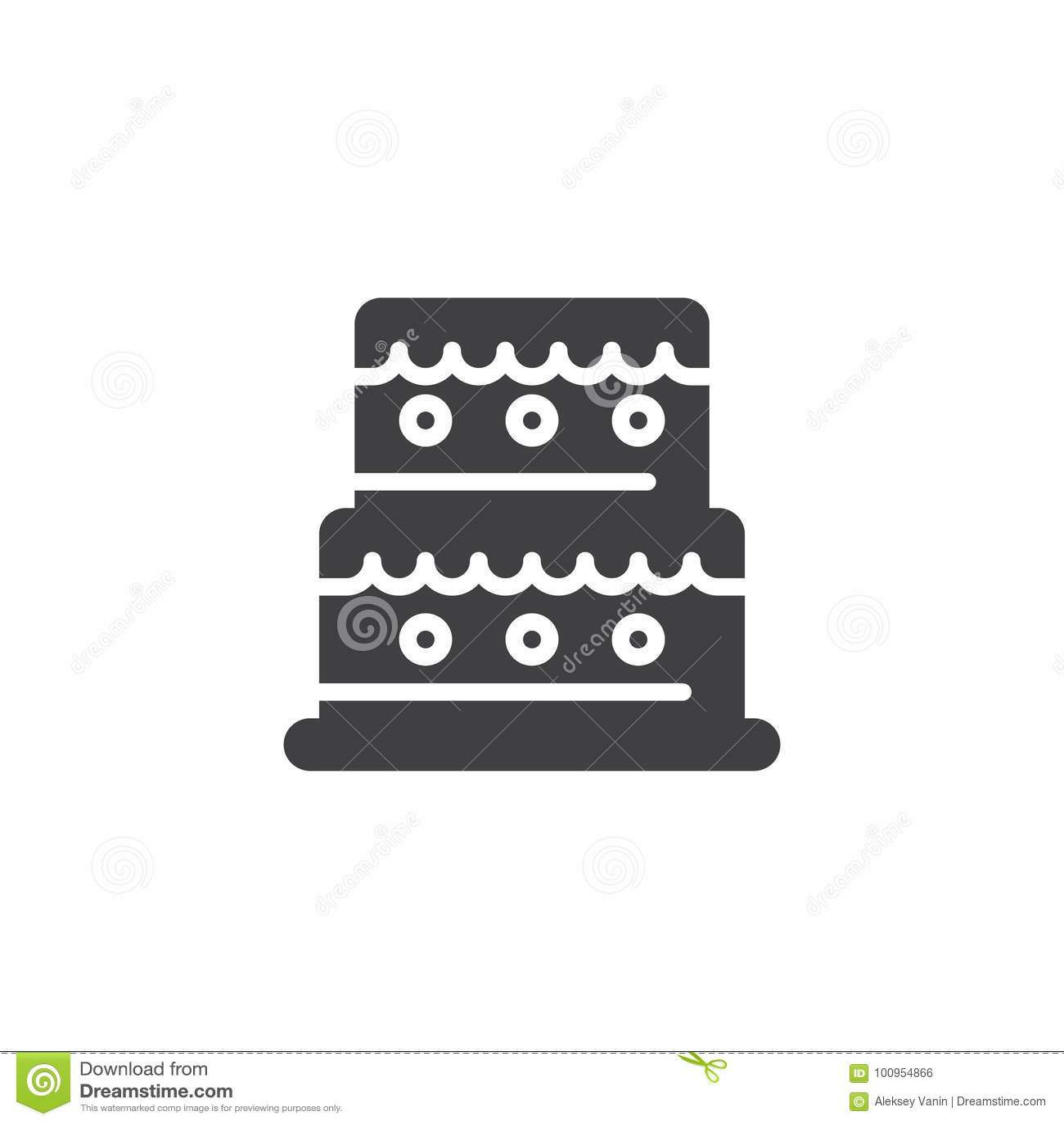 Birthday cake icon vector stock vector image of food 100954866 birthday cake icon vector biocorpaavc