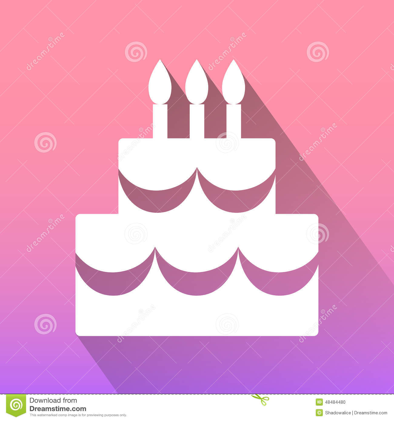 Birthday Cake Icons Set Great For Any Use Vector Eps10 Stock