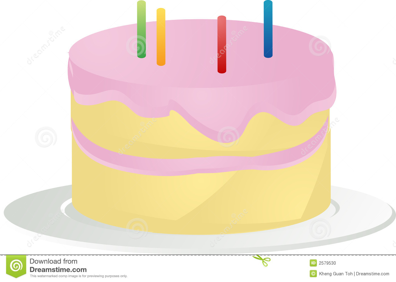 Birthday Cake Illustration Stock Photo - Image: 2579530