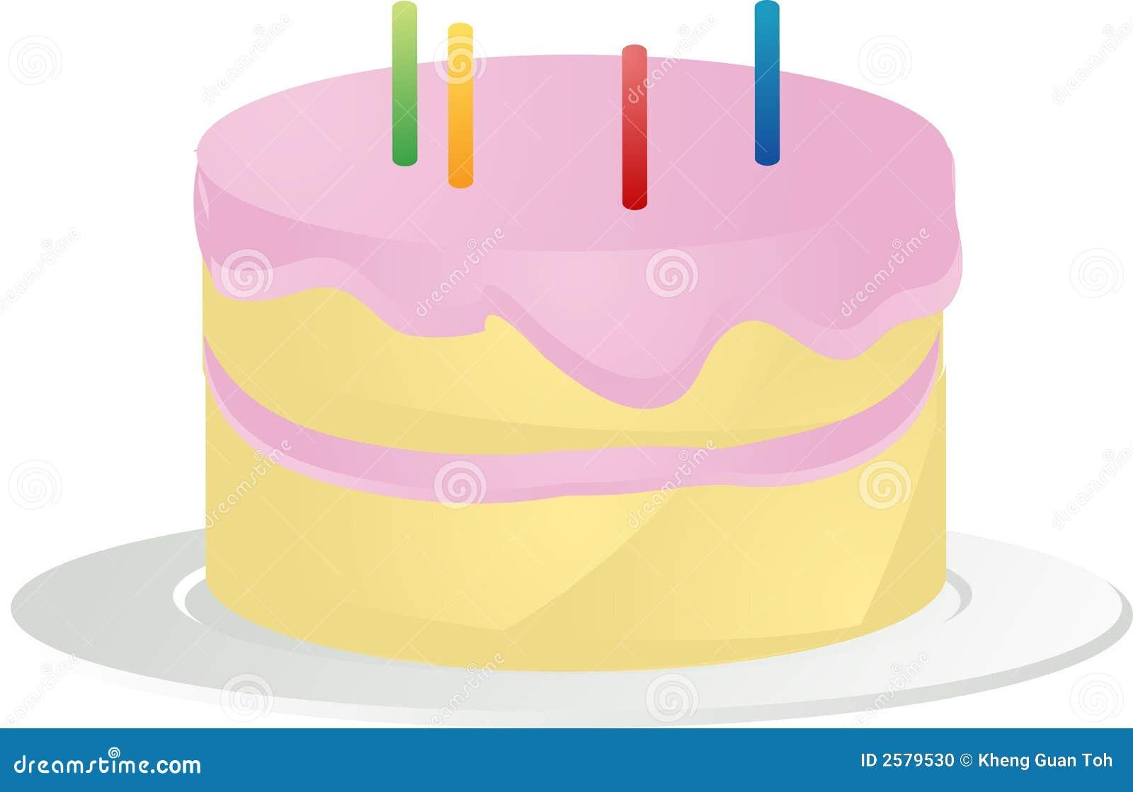 Birthday Cake Illustration Stock Photo - Image: 2579530