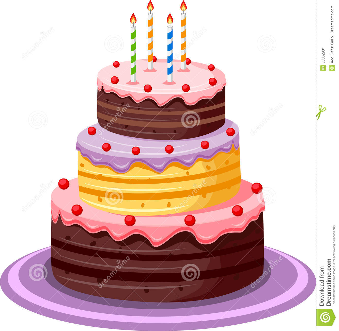 Birthday Cake Stock Vector - Image: 53062931