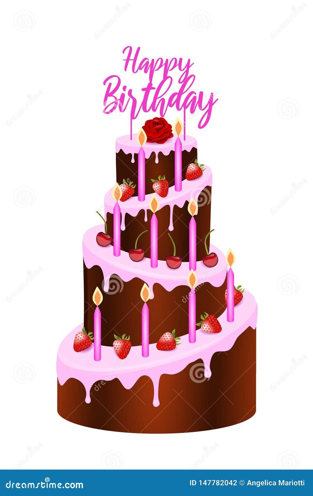 Magnificent Birthday Cake Illustration Stock Vector Illustration Of Birthday Funny Birthday Cards Online Amentibdeldamsfinfo