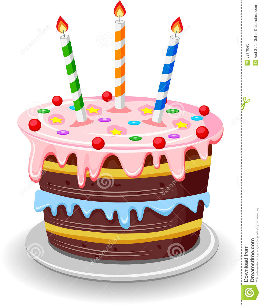 Birthday Cake Stock Vector - Image: 53179580