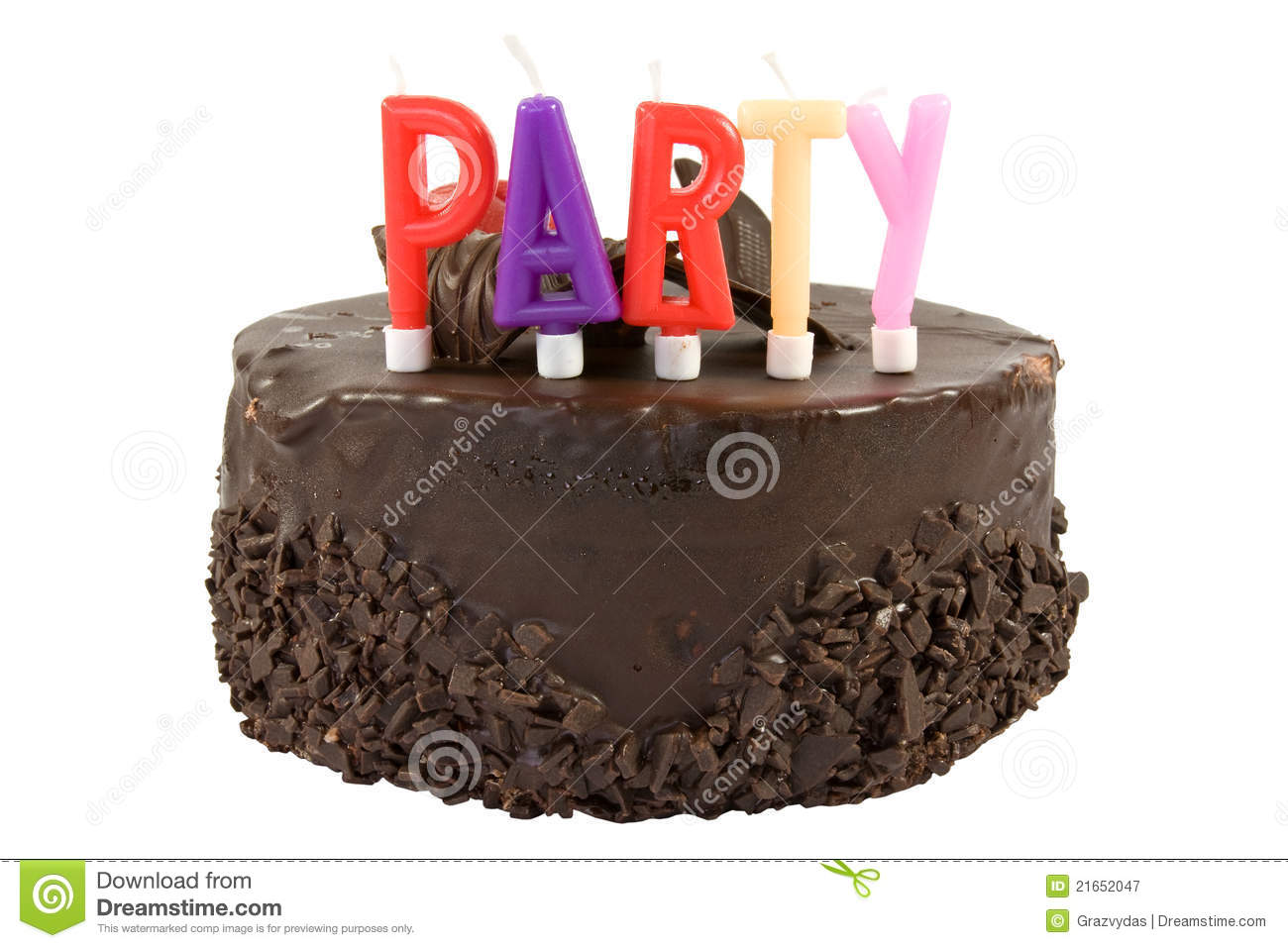 Birthday Cake Isolated On White Background Stock Image