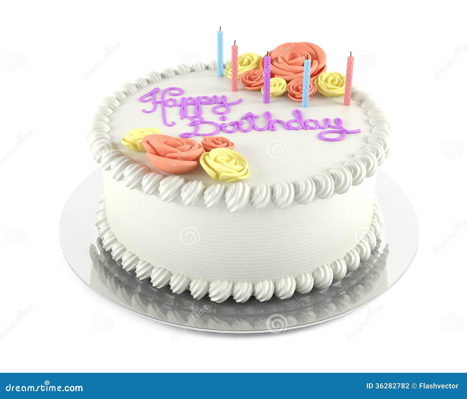 Birthday Cake Isolated Stock Photography