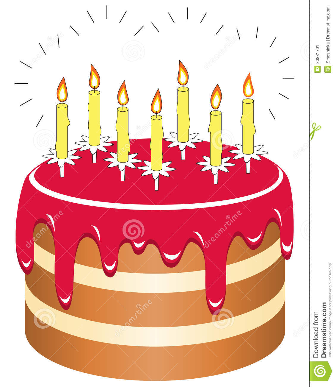 Happy Birthday Cake With Candles Graphics