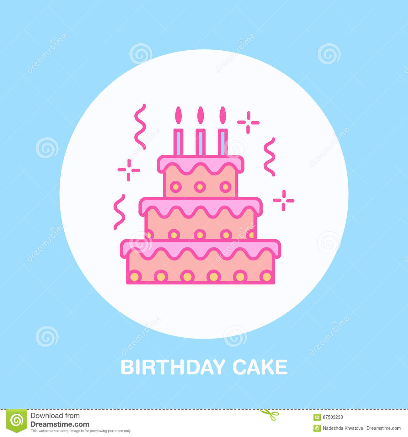 Birthday cake line icon vector logo for bakery party service birthday cake line icon vector logo for bakery party service tasty torte thin linear symbol for event agency linear biocorpaavc
