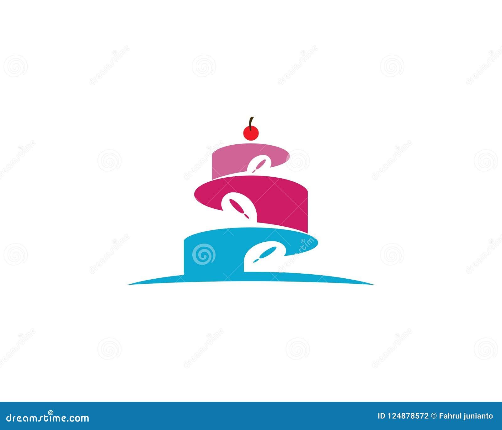 Birthday Cake Logo Vector Template Stock Illustration Illustration
