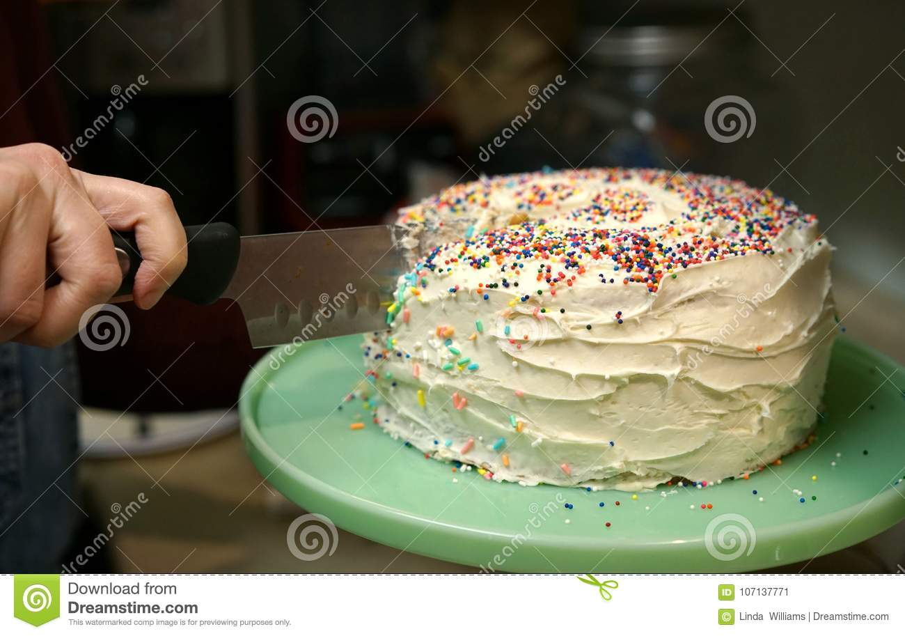 Groovy Birthday Cake Made By Mom Stock Image Image Of Fingers 107137771 Personalised Birthday Cards Veneteletsinfo
