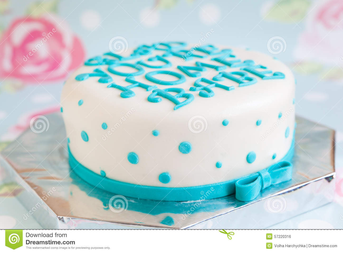 Birthday Cake With Mastic Text Stock Photo Image Of Messaging