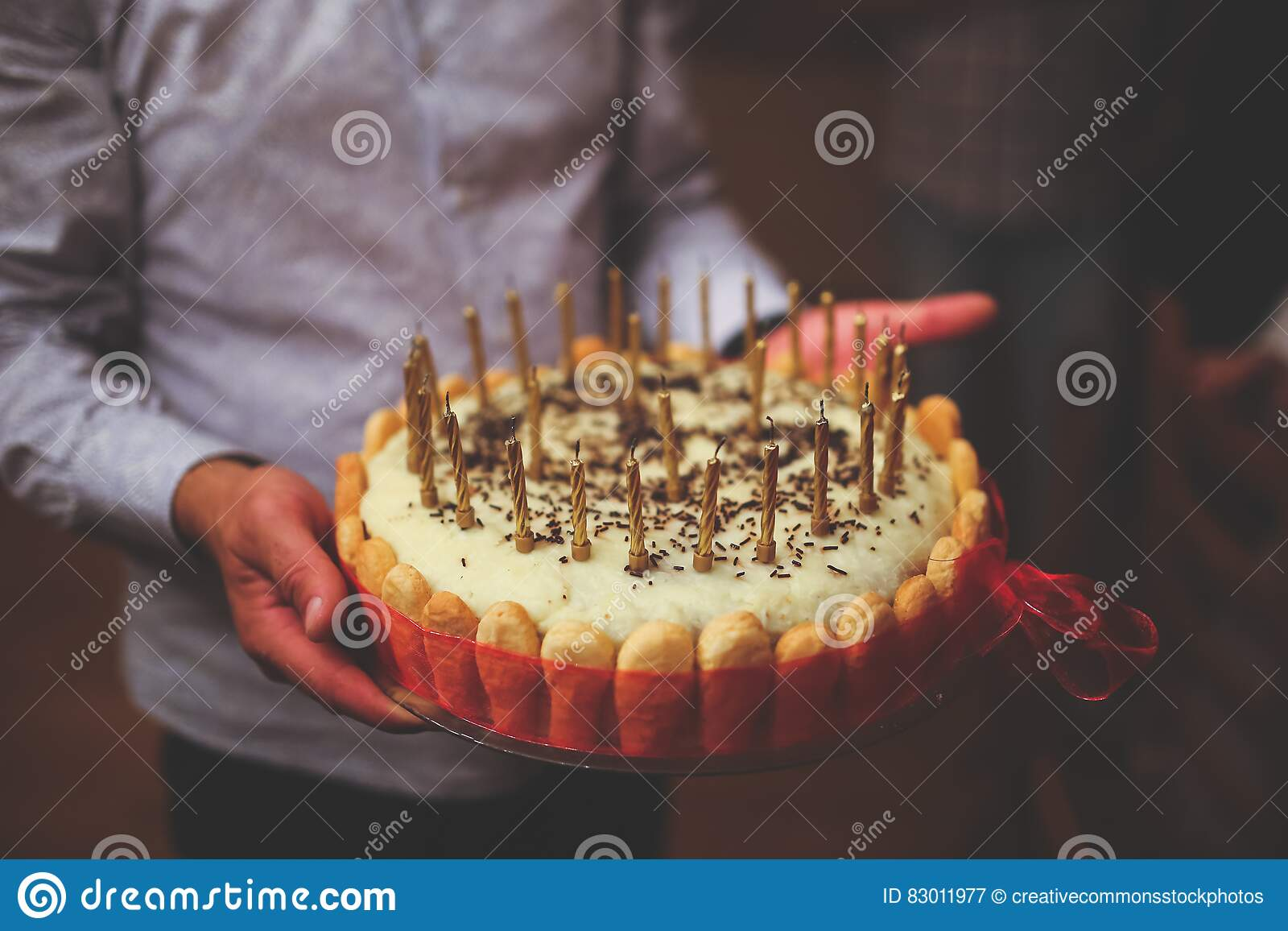 Awe Inspiring Birthday Cake In Mens Hands Picture Image 83011977 Funny Birthday Cards Online Hendilapandamsfinfo