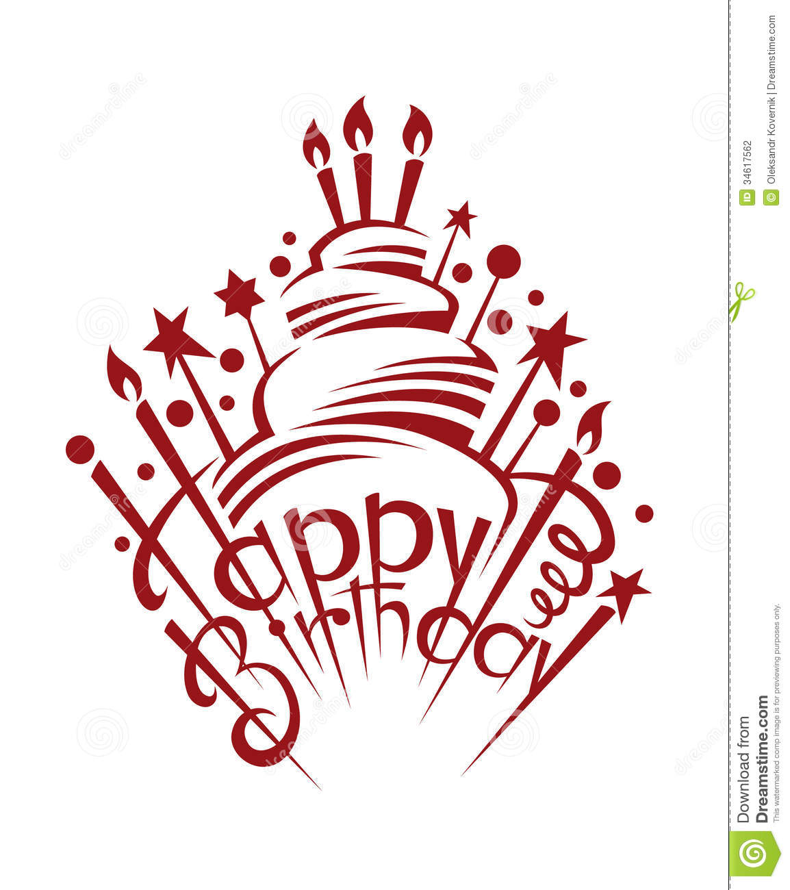 Birthday Cake Stock Vector Image Of Cream Decoration