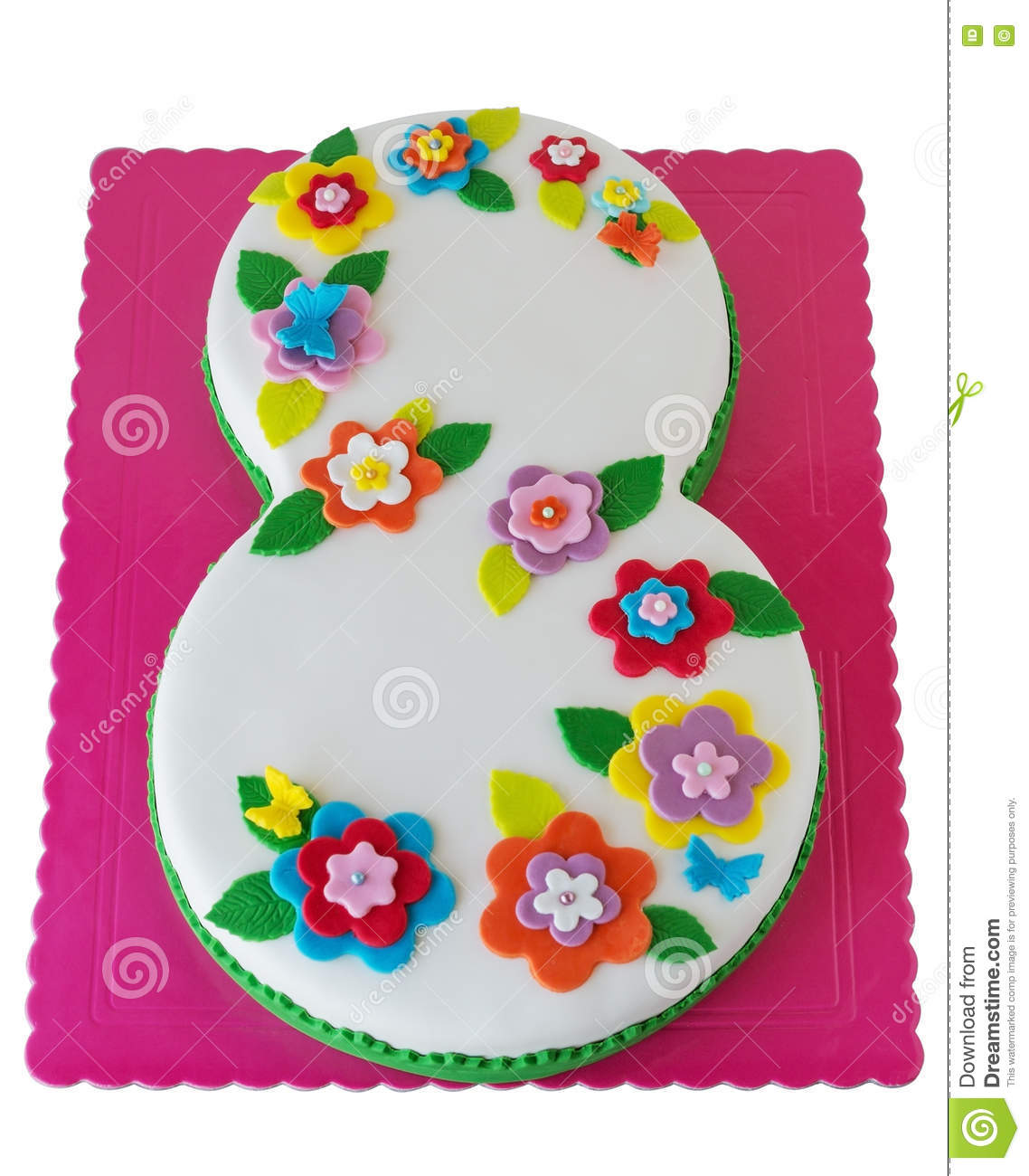 Birthday Cake With Number 8 Stock Image Image Of Anniversary