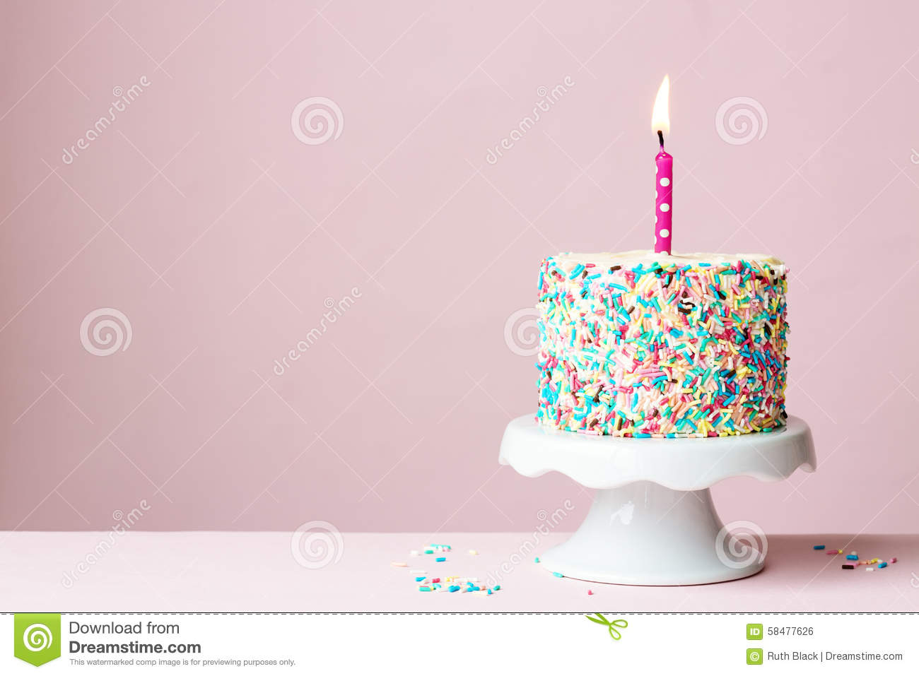 Birthday cake stock photo. Image of cakestand, against - 58477626