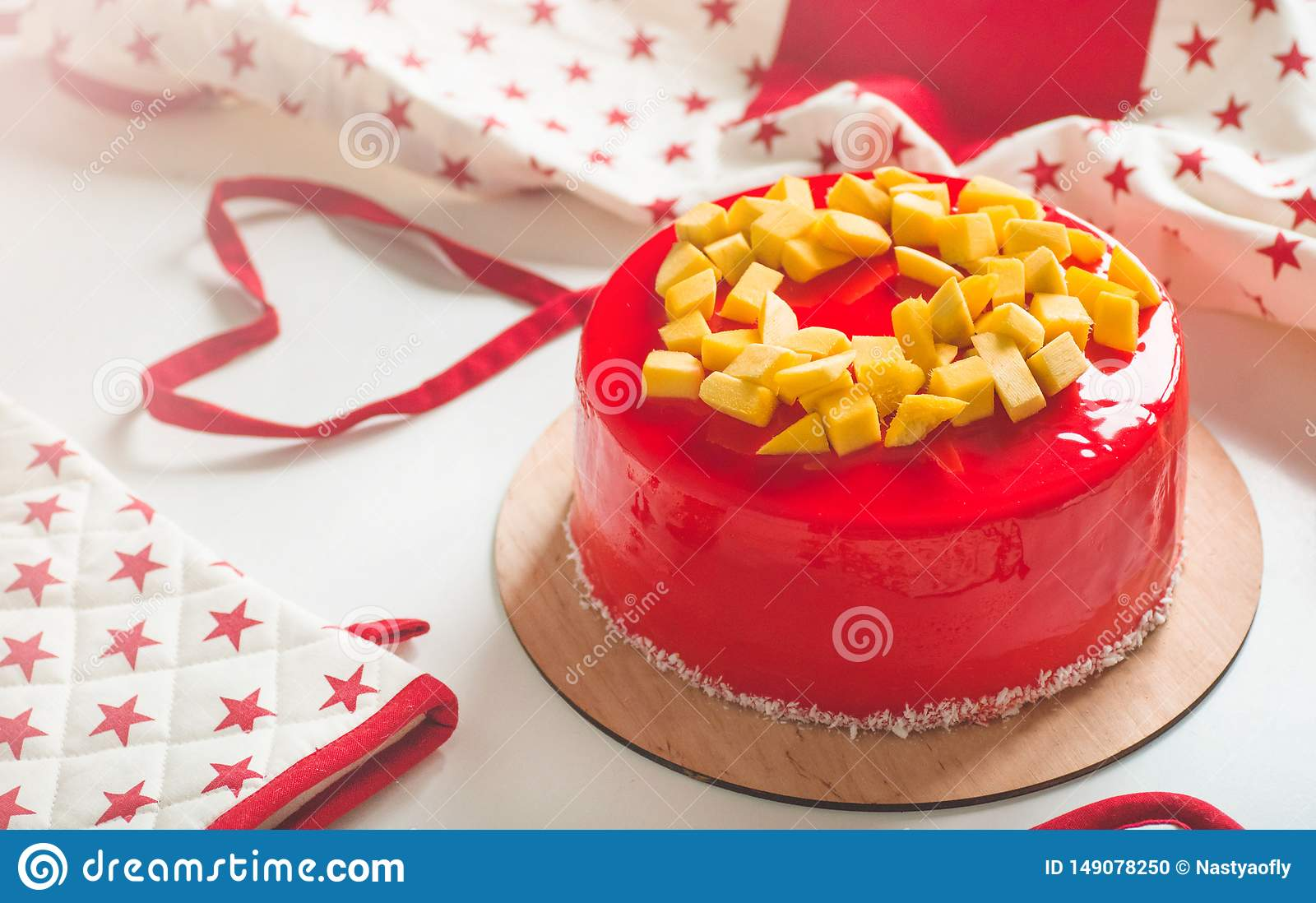 Swell Birthday Cake With One Candle And Red Frosting National Bakery Funny Birthday Cards Online Fluifree Goldxyz