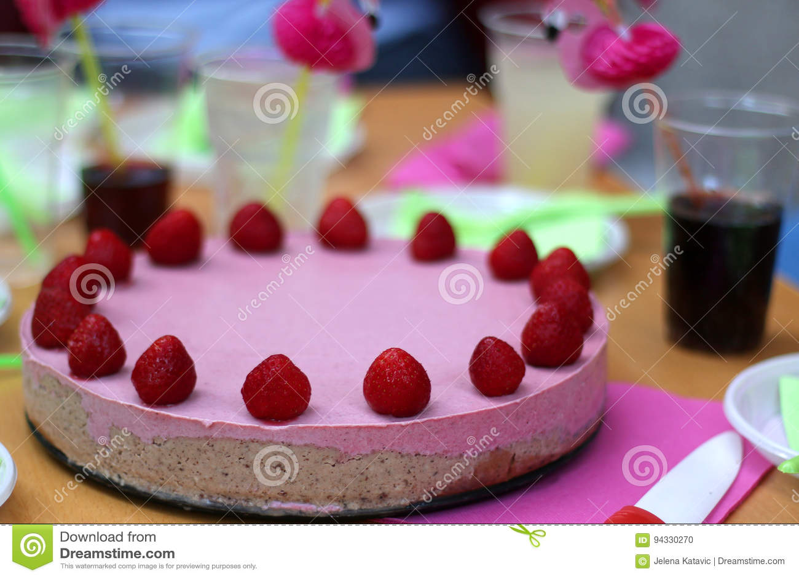 Birthday Cake Stock Photo Image Of Cocoa Depth Napkin 94330270