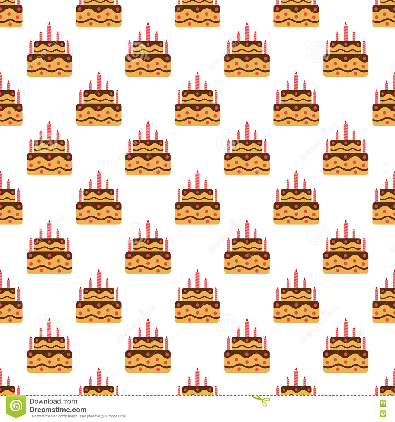 Birthday Cake Pattern Seamless