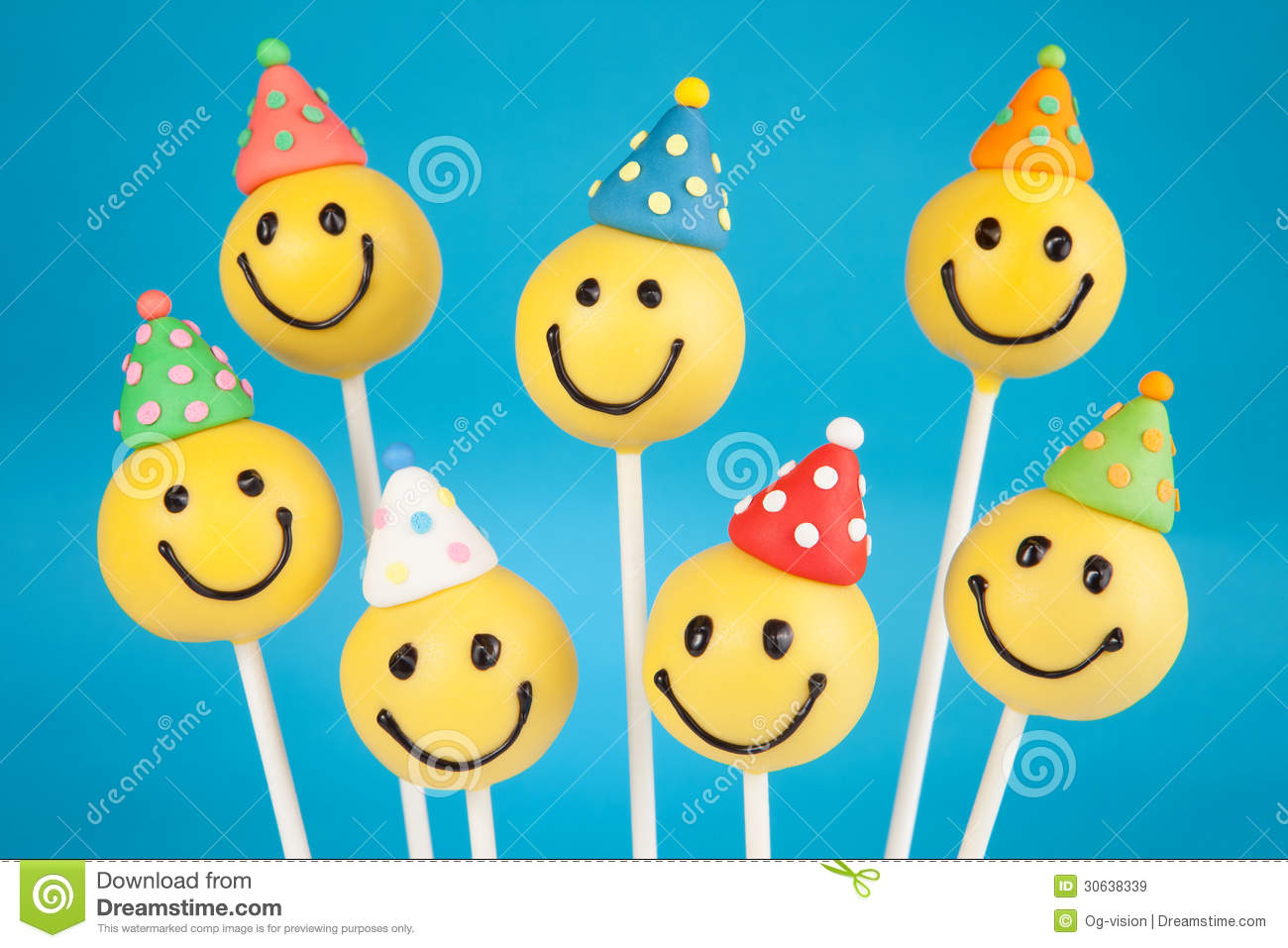 Birthday Cake Pops Stock Image Of Background Confectionery