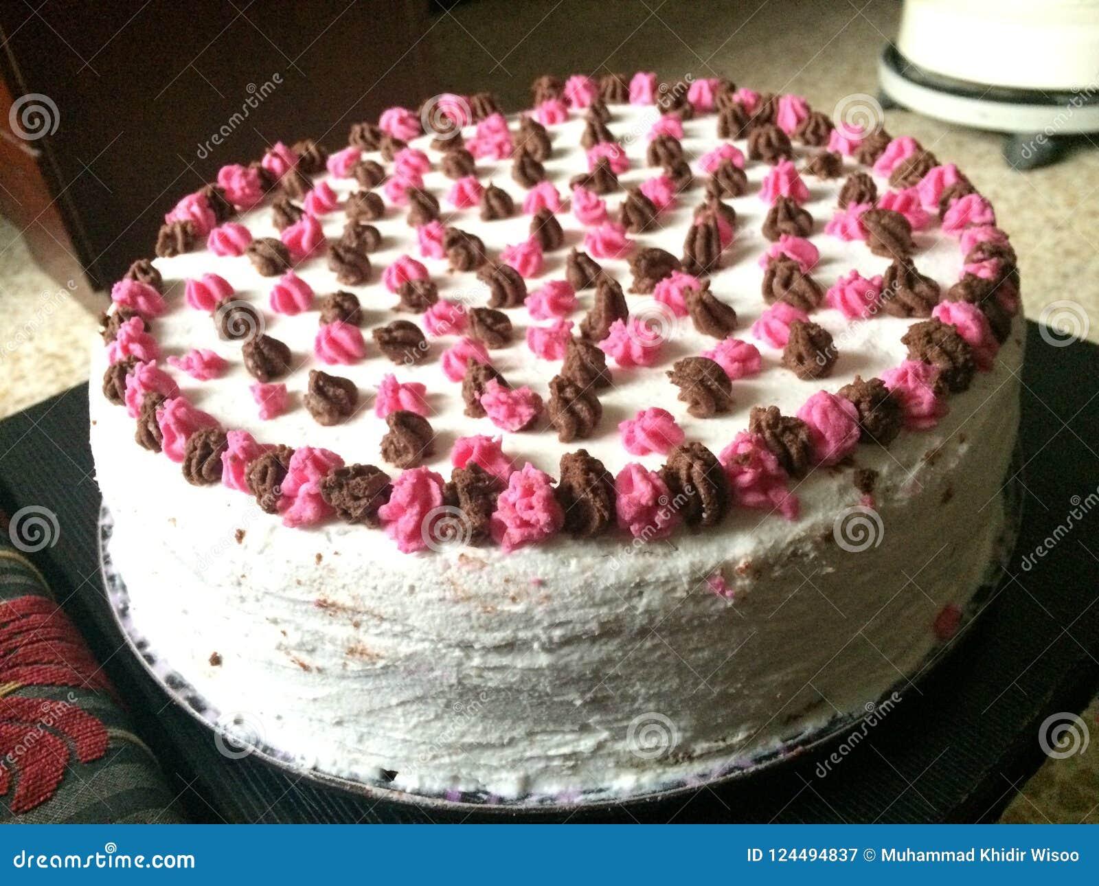 Phenomenal Birthday Cake Stock Image Image Of Party Prepared 124494837 Funny Birthday Cards Online Aboleapandamsfinfo