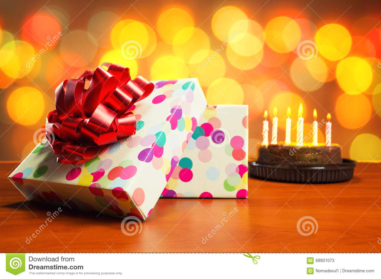 Remarkable Birthday Cake And Presents Stock Image Image Of Colorful 68931073 Funny Birthday Cards Online Chimdamsfinfo