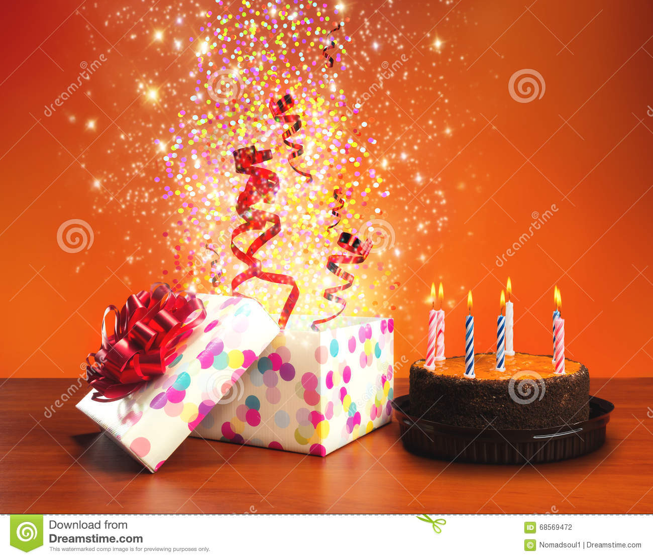 Incredible Birthday Cake And Presents Stock Photo Image Of Celebration Funny Birthday Cards Online Sheoxdamsfinfo