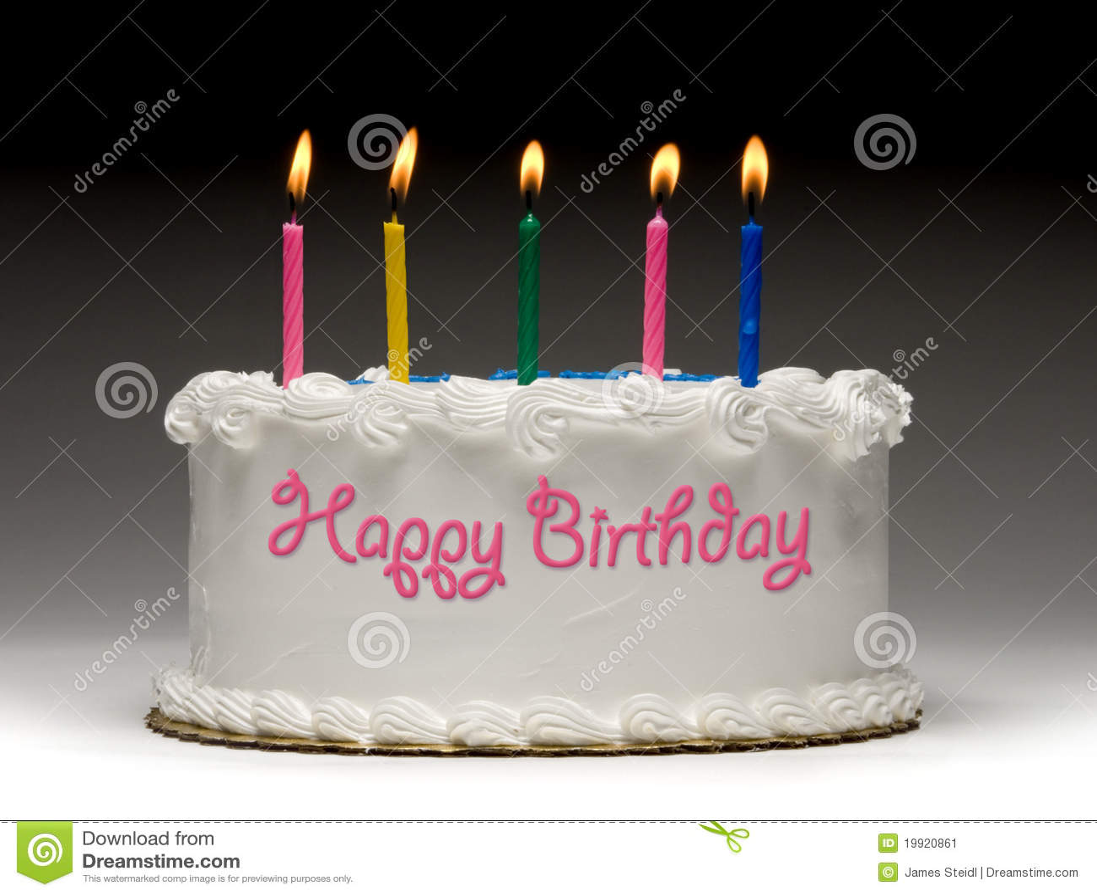 Birthday Cake Profile Stock Image Image Of Flame