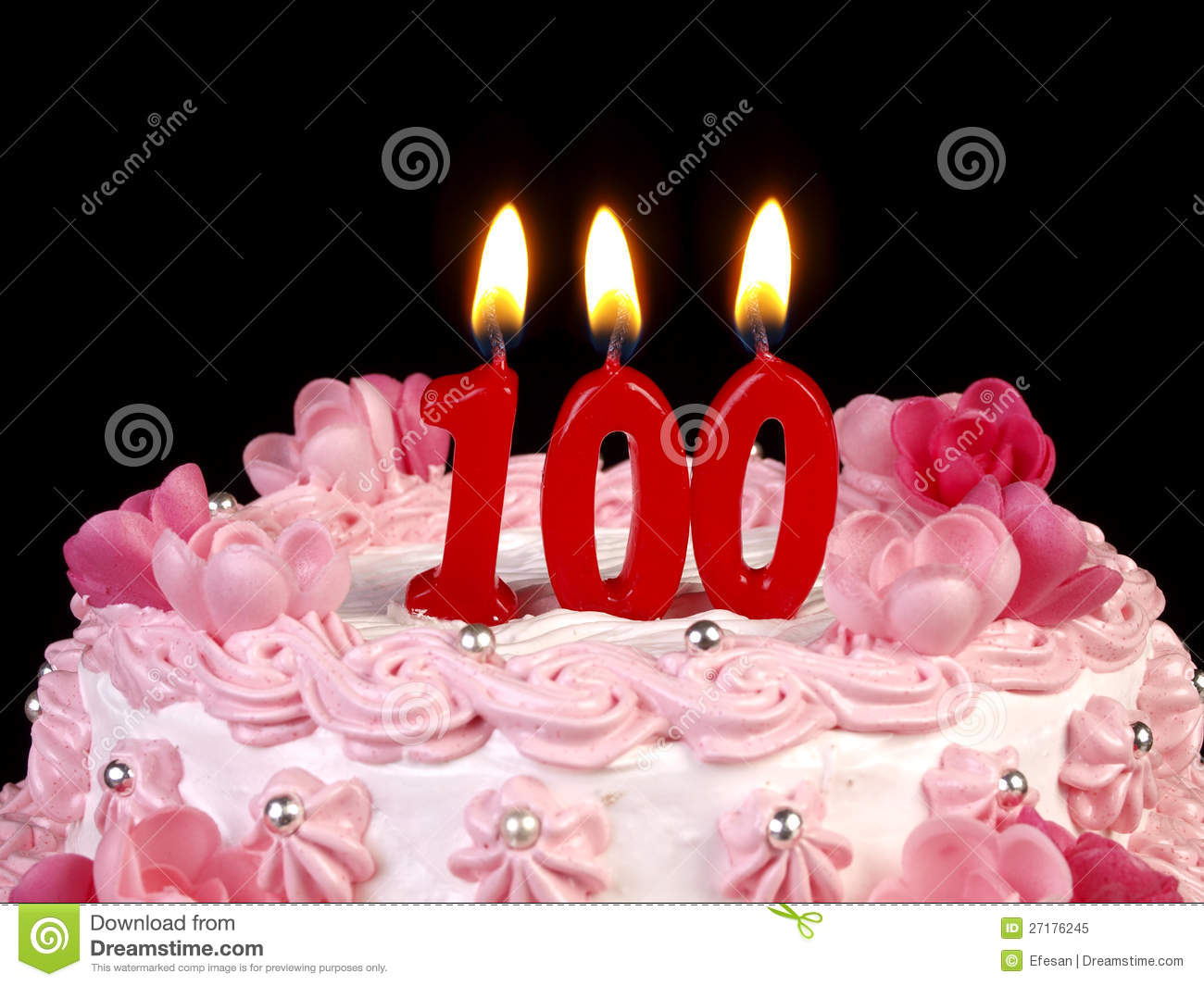 Birthday Cake Showing Nr 100 Stock Image Image Of Syrup