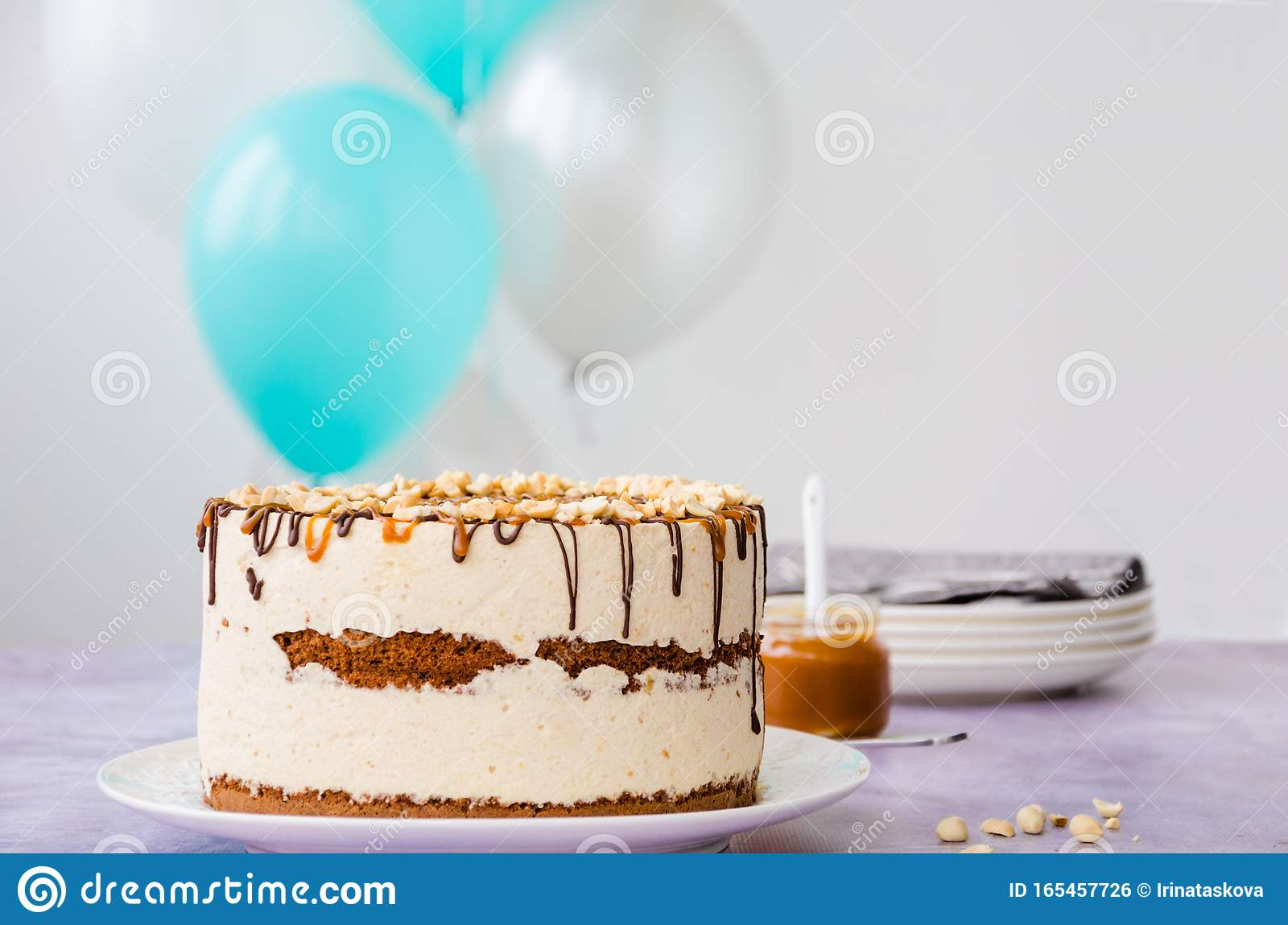 Superb Birthday Cake Snickers Homemade Holiday Cake With Caramel Nougat Funny Birthday Cards Online Hetedamsfinfo