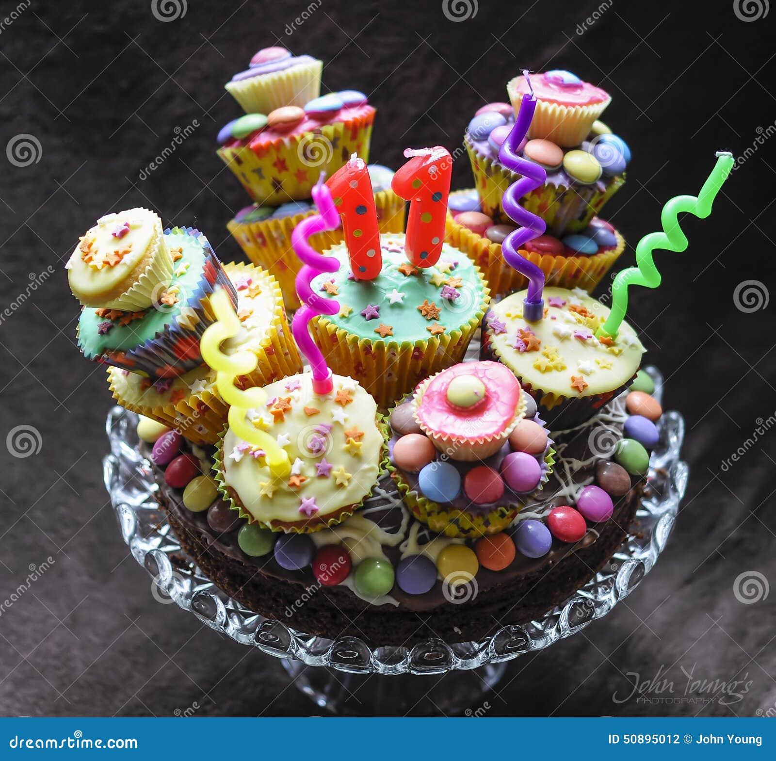 Birthday Cake Stock Photo Image Of Cream Curly Raspberries 50895012