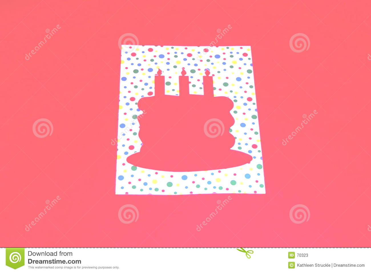 Birthday Cake Template Stock Illustration Illustration Of
