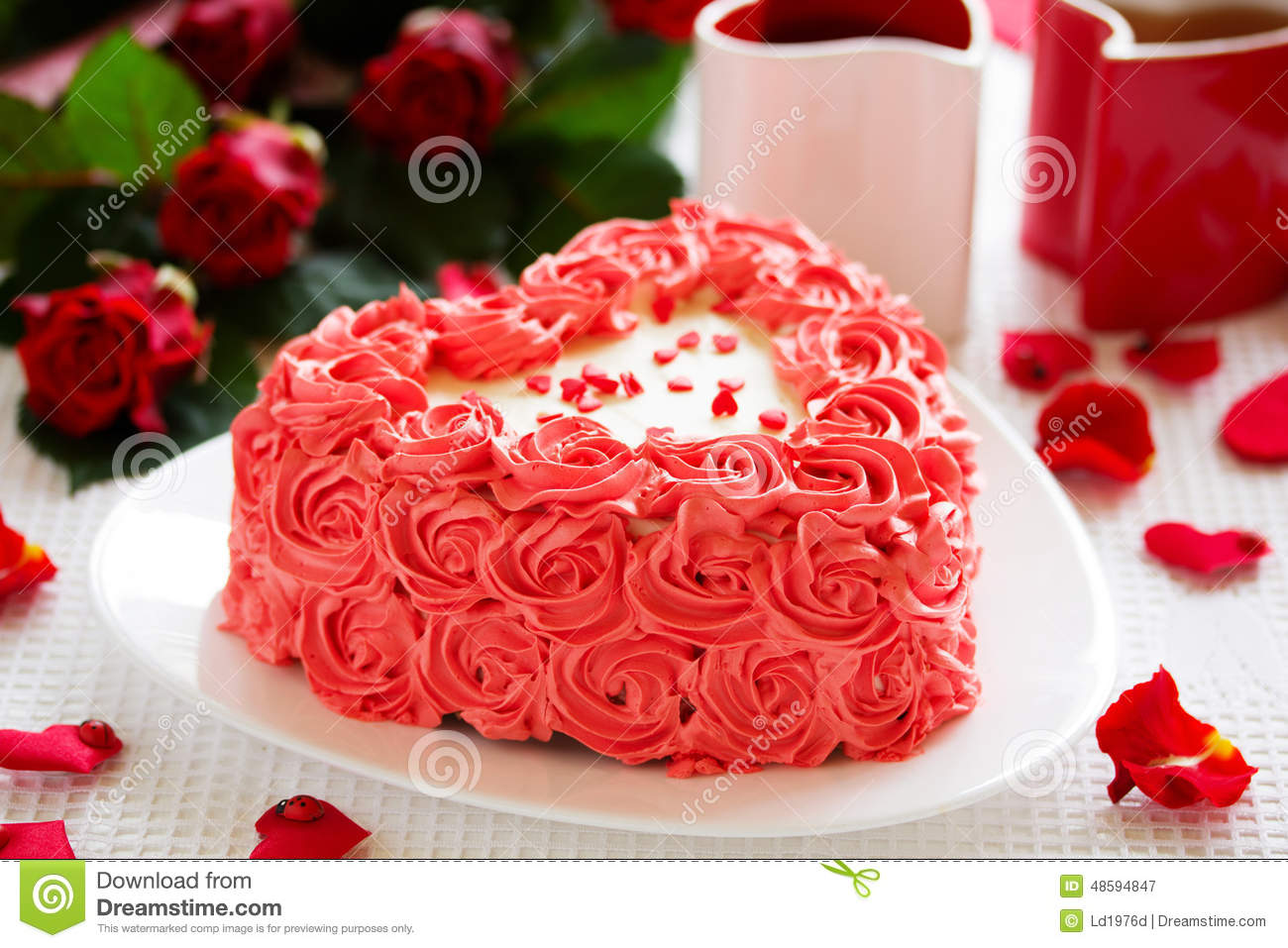 Magnificent Birthday Cake For Valentine S Day Stock Image Image Of Gourmet Funny Birthday Cards Online Elaedamsfinfo