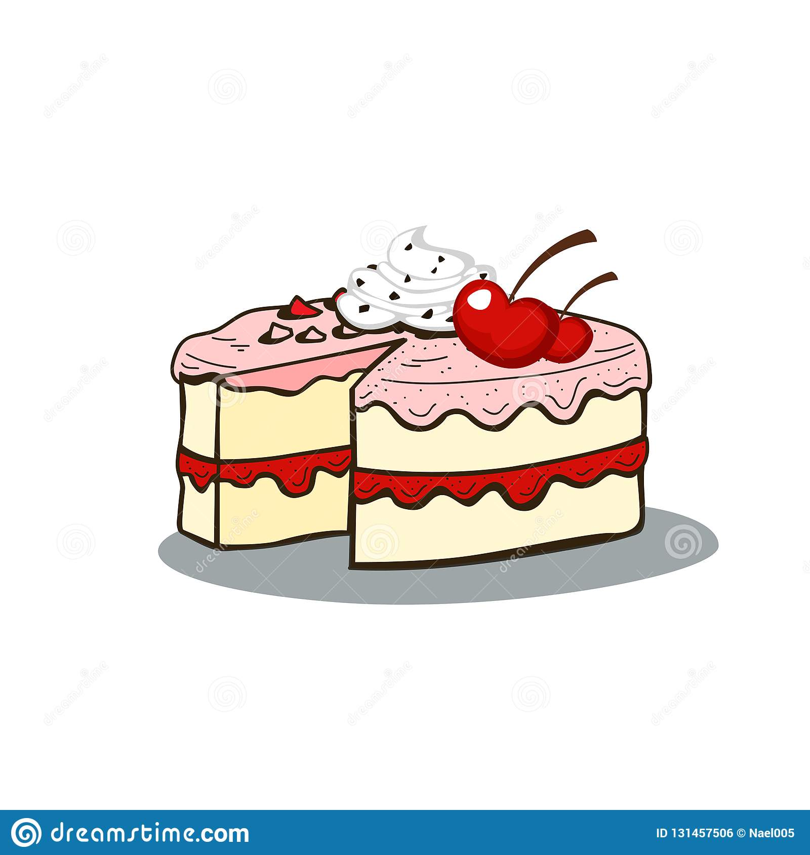Tremendous Birthday Cake Vector Design Stock Illustration Illustration Of Funny Birthday Cards Online Alyptdamsfinfo