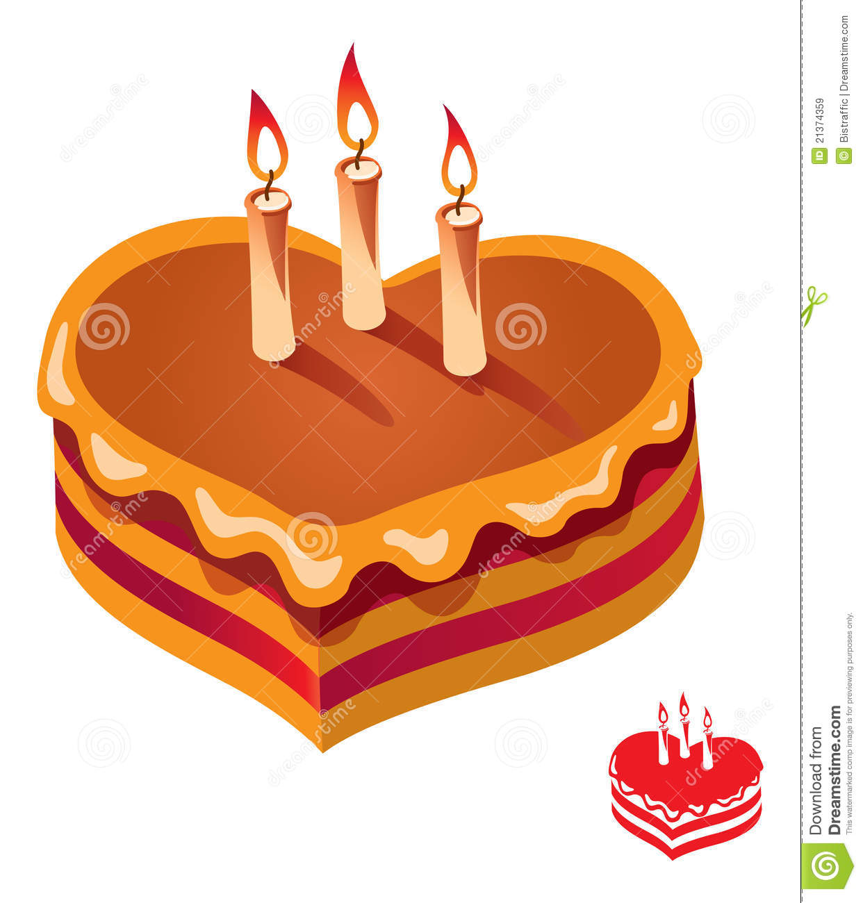 Birthday Cake Vector Illustration Royalty Free Stock ...