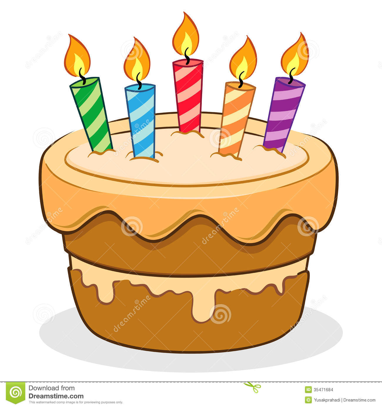 Sensational Birthday Cake Stock Vector Illustration Of Delicious 35471684 Personalised Birthday Cards Veneteletsinfo