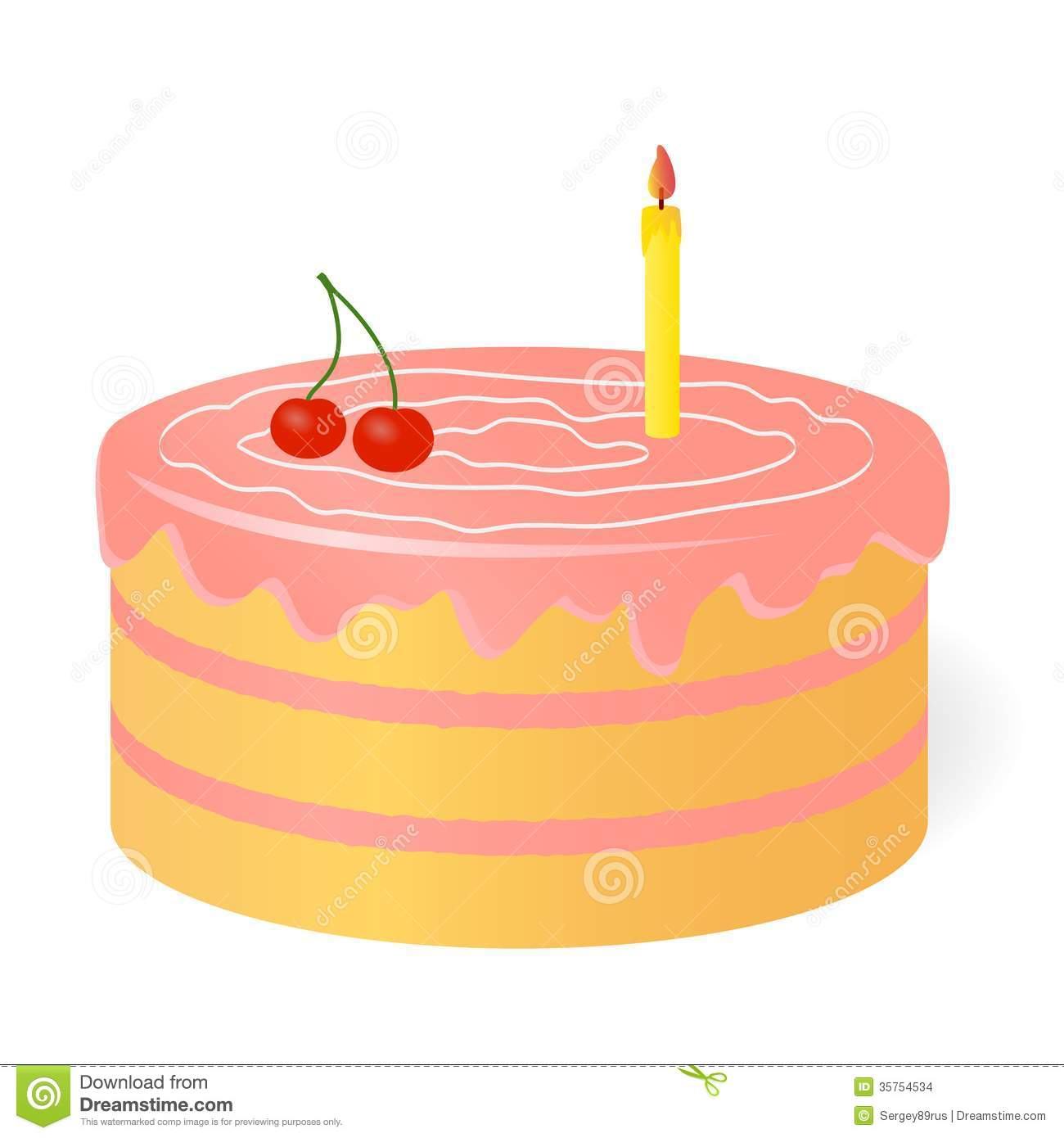 Birthday Cake. Stock Images - Image: 35754534