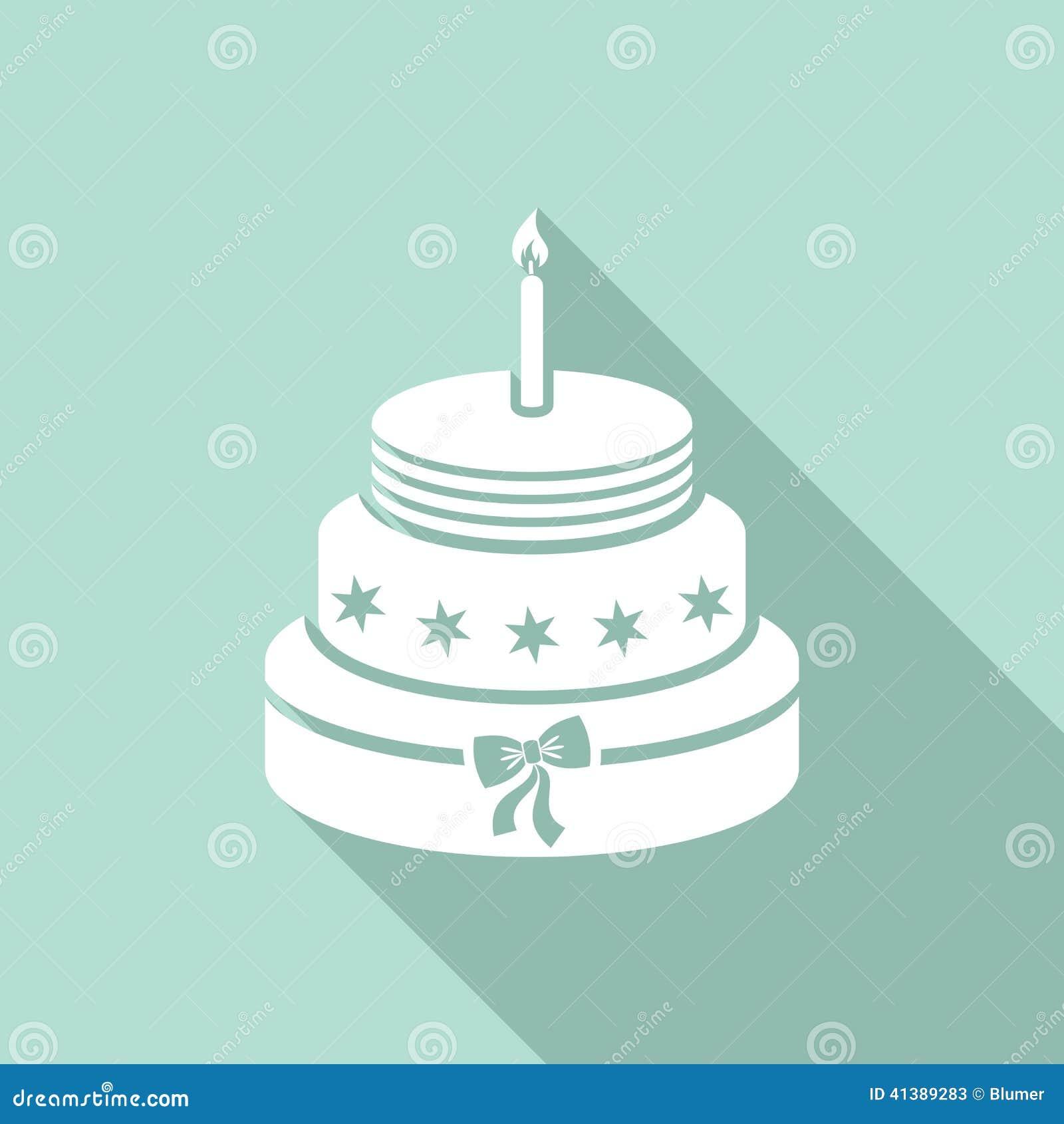 Birthday Cake Stock Vector Illustration Of Cake White 41389283