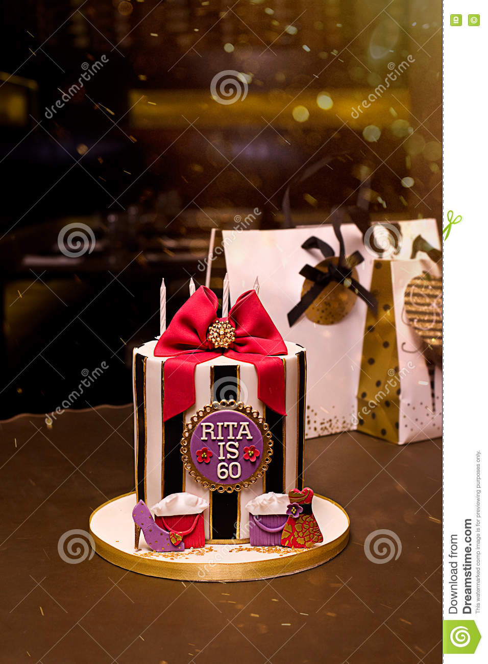 Peachy Birthday Cake Stock Photo Image Of Shoes Handbags Shoe 71618806 Funny Birthday Cards Online Alyptdamsfinfo