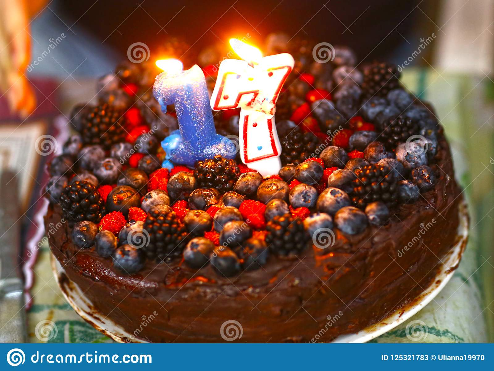Stupendous Birthday Cake For 17 Year Old Girl Made With Chocolate And Peanut Funny Birthday Cards Online Alyptdamsfinfo