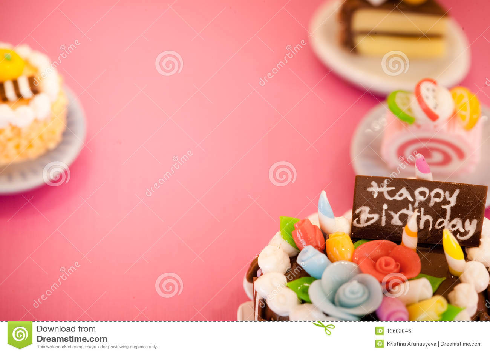 Birthday cakes background stock photo. Image of colorful ...