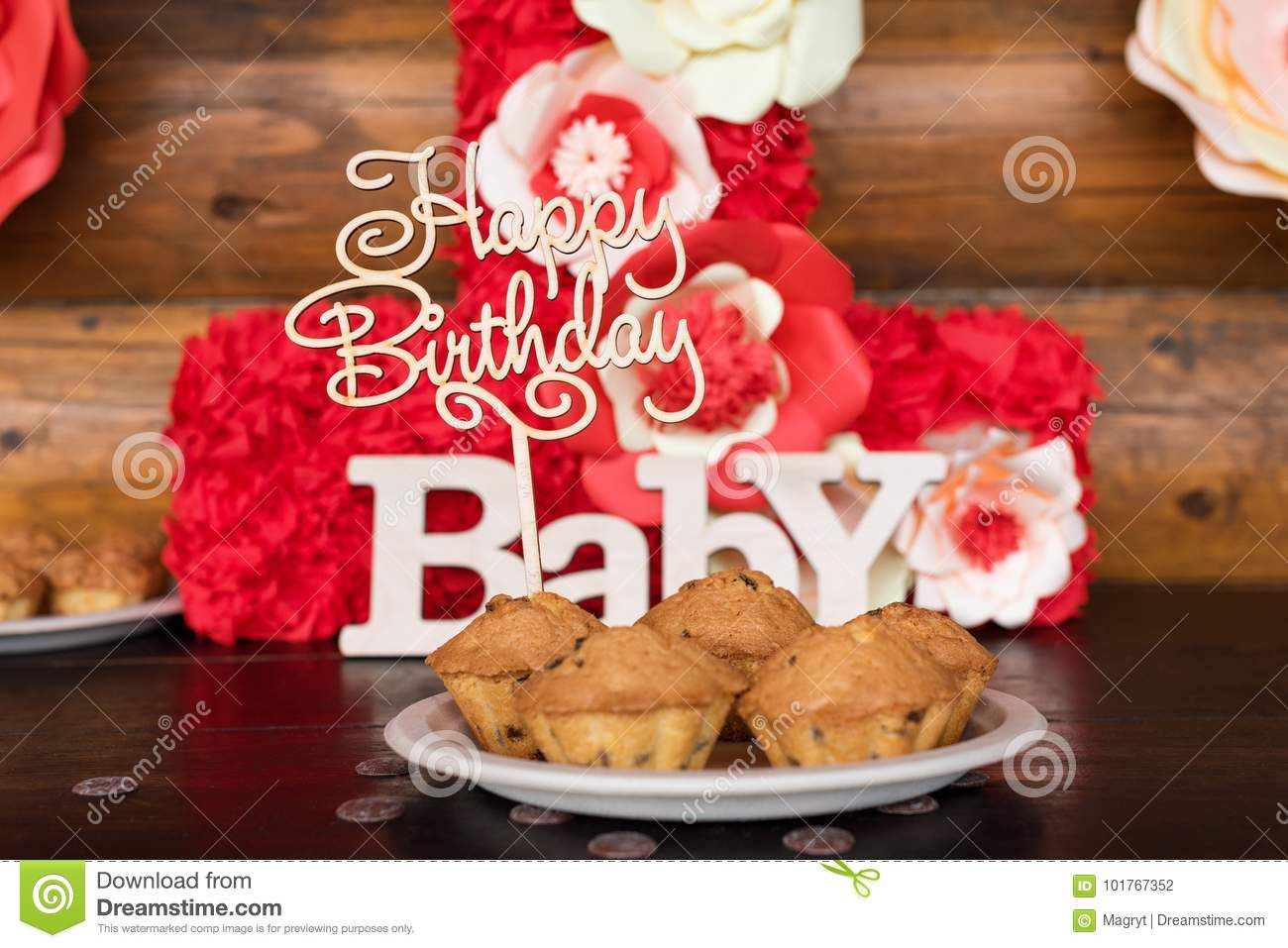 Awesome Birthday Cakes Muffins With Wooden Greeting Signs On Rustic Funny Birthday Cards Online Eattedamsfinfo