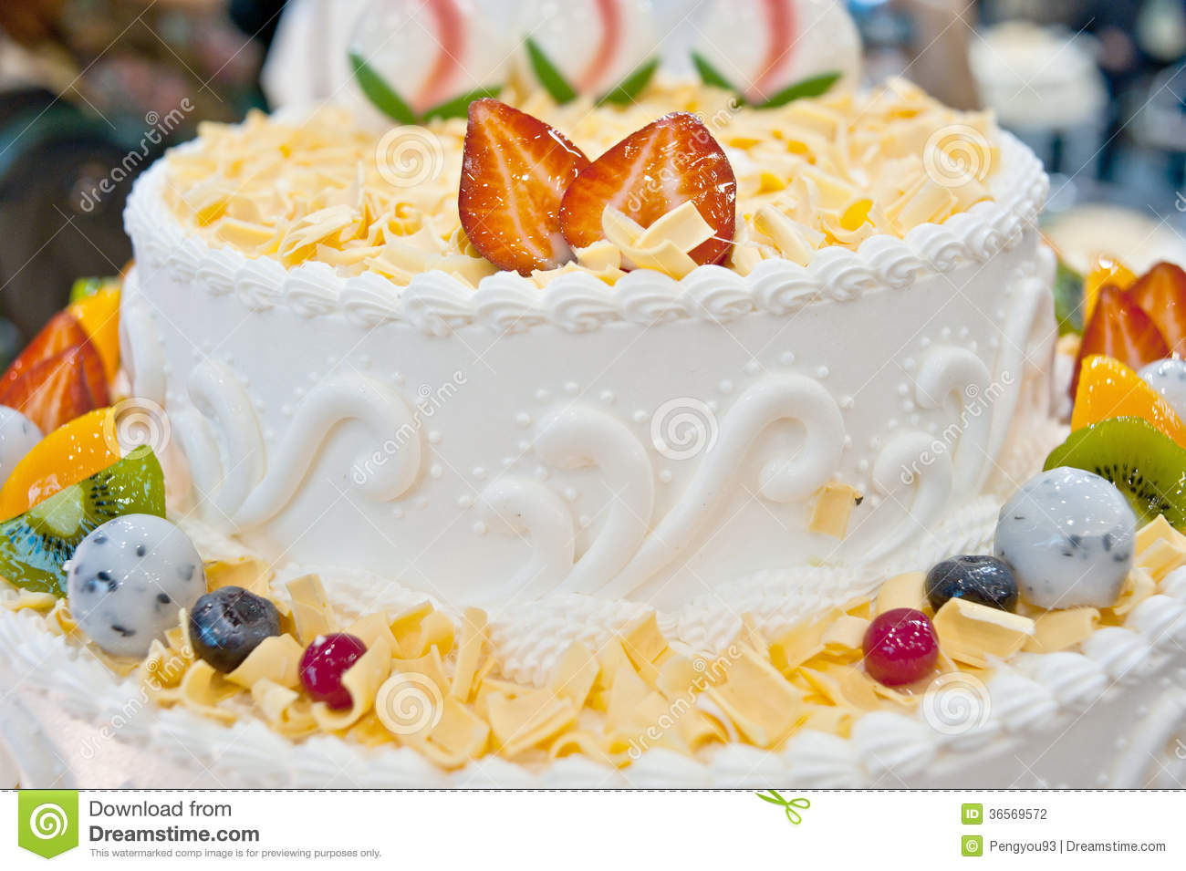 Birthday Cakes Pastries Design Stock Photo Image Of