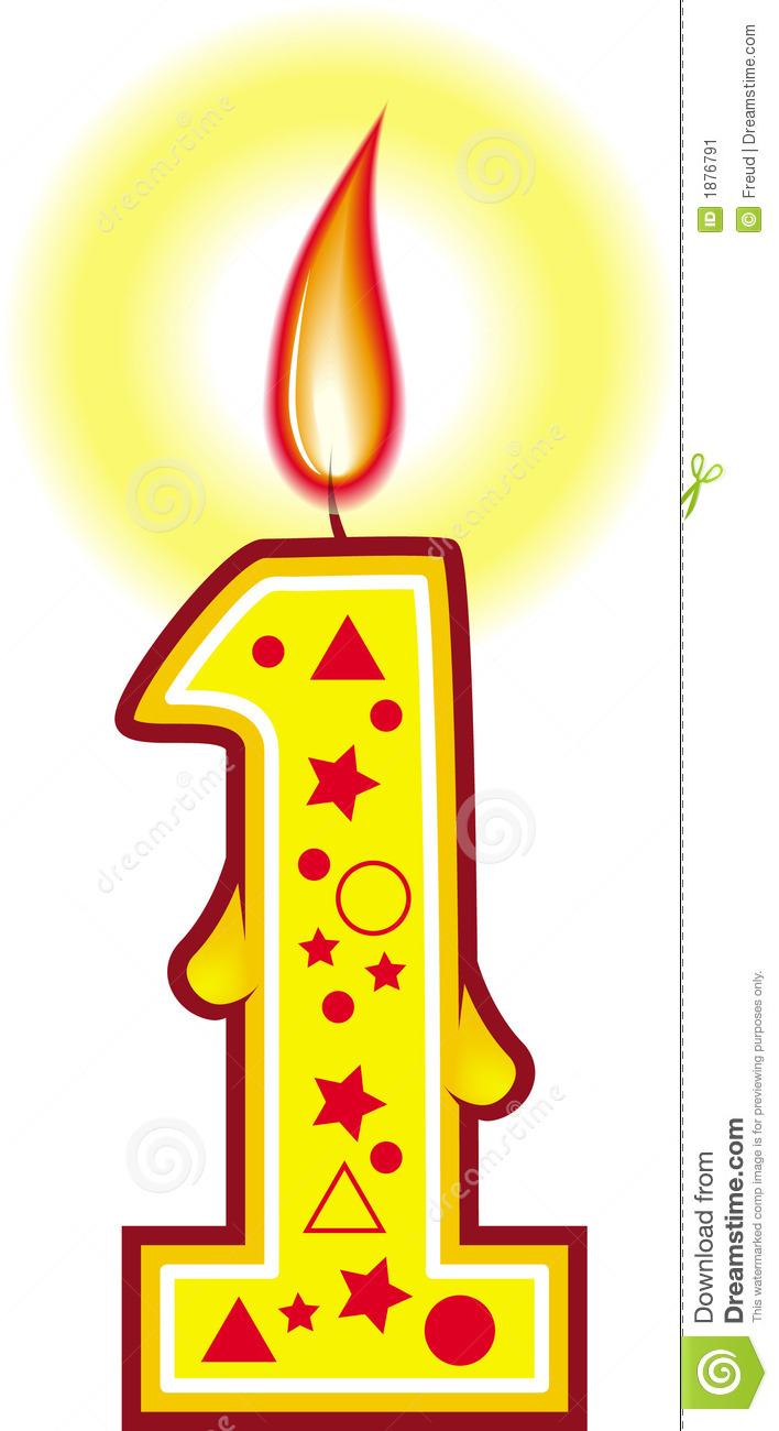 Birthday Candle 1 Stock Illustration Of Illustrations