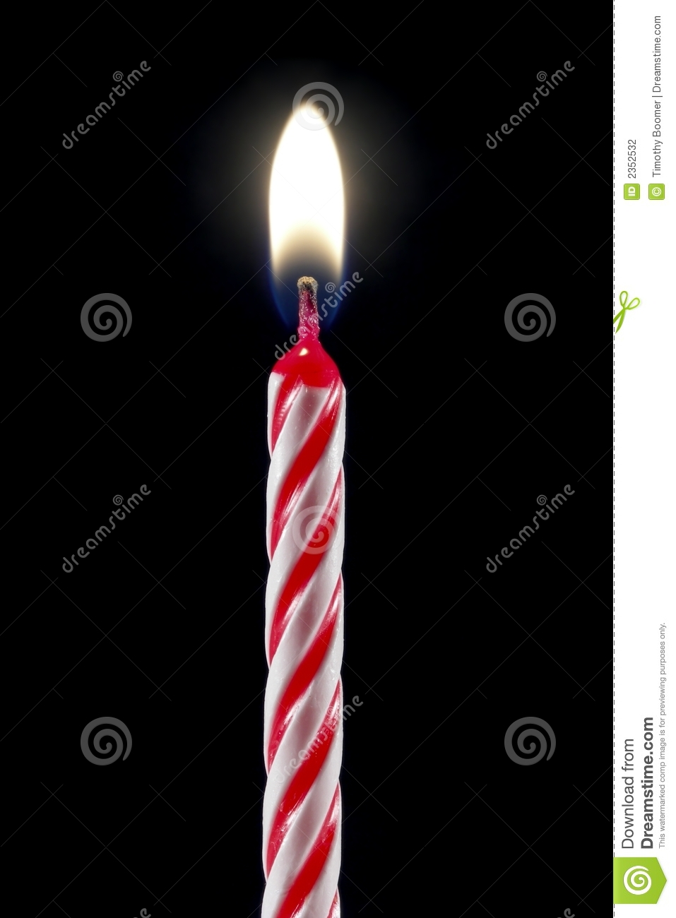 Birthday Candle Stock Photo Image Of Birthday Single