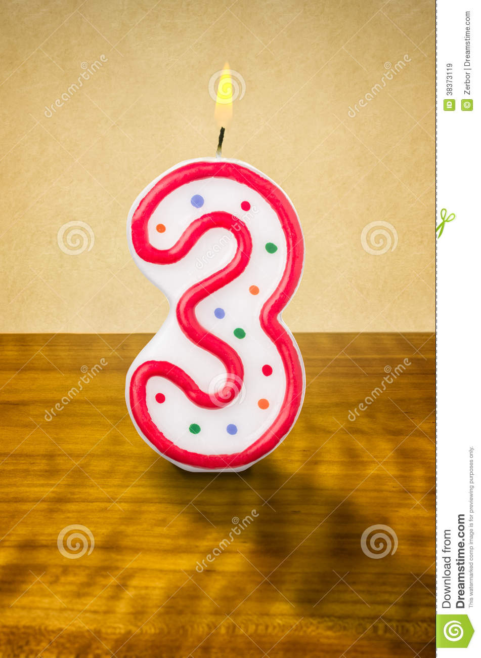 Birthday Candle Number 3 Stock Illustration Image Of