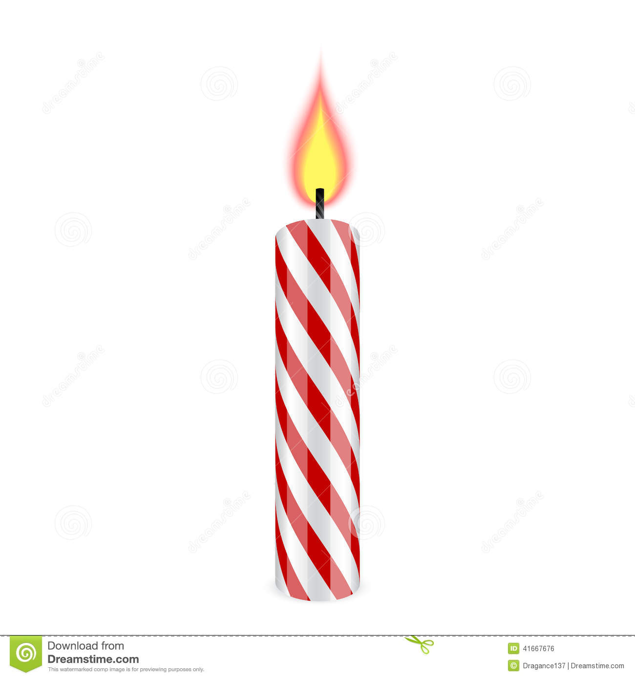 Birthday Candle Stock Vector - Image: 41667676