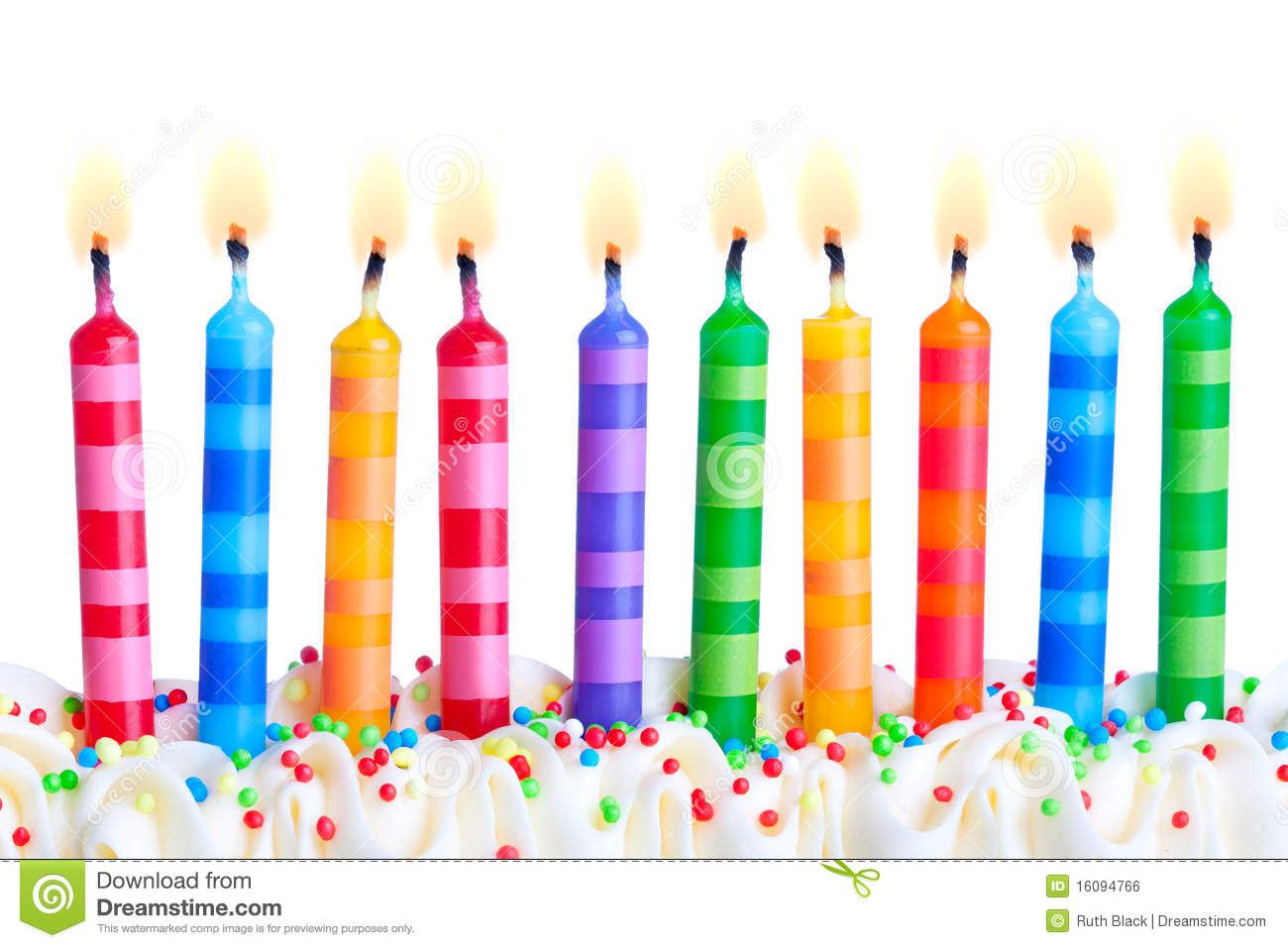 Birthday Candles Stock Photo Image Of Plain Food Colorful
