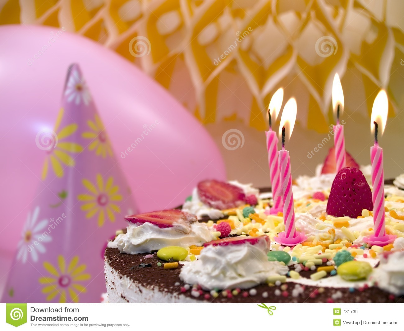 Download Birthday candles stock image. Image of special, steamers - 731739