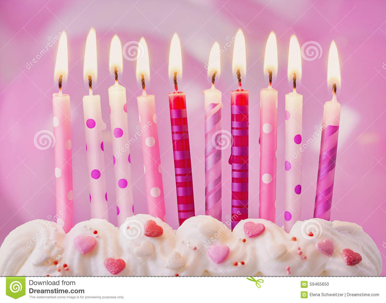 Birthday Cake Roses Pink Balloons Images