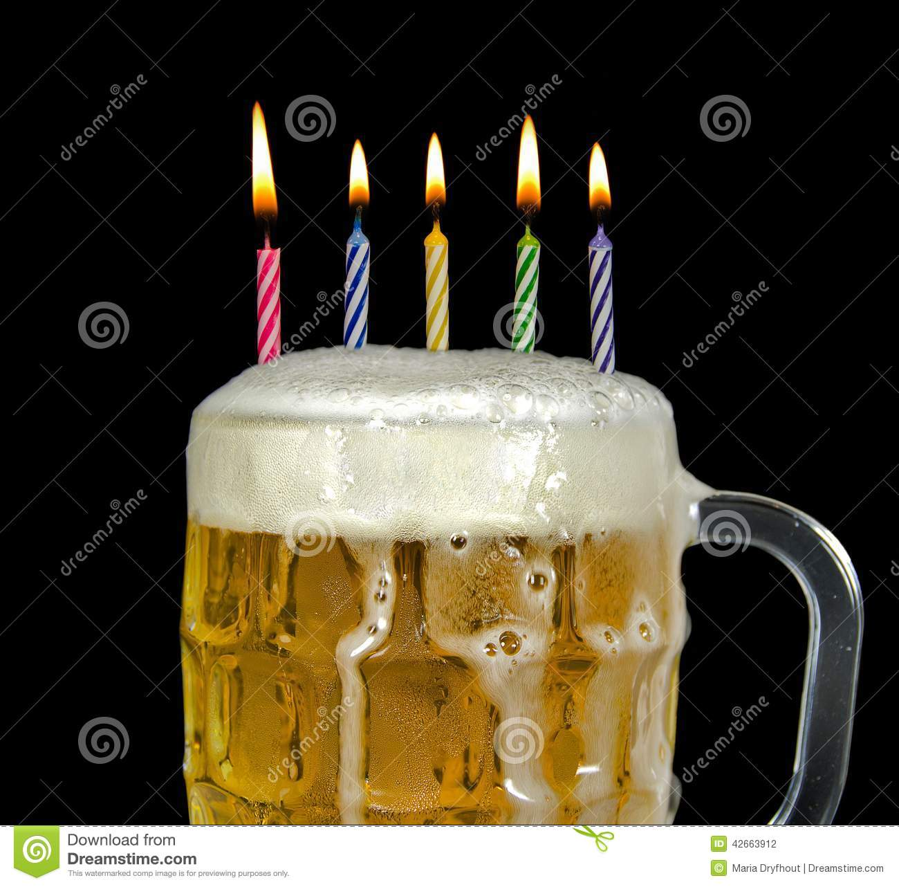 Happy Birthday Para Hombres Cerveza ~ Birthday candles in beer stock photo image of concept